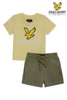 Lyle & Scott Boys Eagle Logo T-Shirt And Short Set