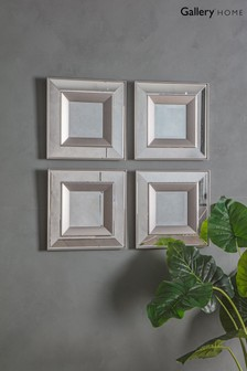 Set of 4 Madrid Square Bevelled Mirrors by Gallery Direct