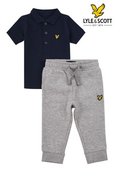 Lyle & Scott Boys Tipped Polo And Jogger Set