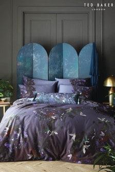 Ted Baker Purple Pomegranate Midnight Duvet Cover