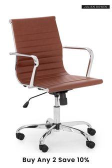 Julian Bowen Gio Brown Chrome Office Chair