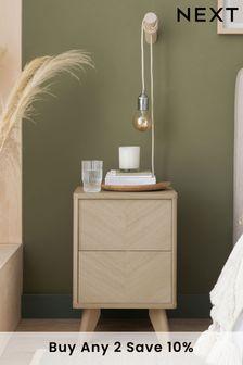 Anderson Oak Effect 2 Drawer Bedside Table