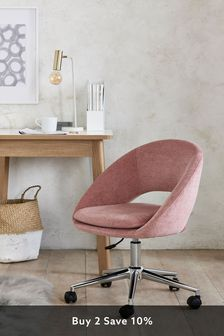 Hewitt Office Desk Chair with Chome Base