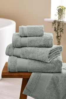 Light Sage Green Egyptian Cotton Towels