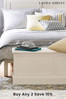 Ashwell Cotton White Blanket Box by Laura Ashley