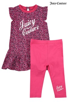 Juicy Leopard Frill and Dress Legging Set