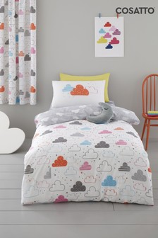 Cosatto Grey Fairy Clouds Duvet Cover and Pillowcase Set