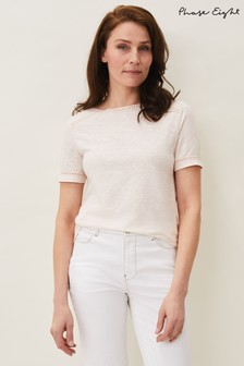 Phase Eight Pink Elspeth Puff Sleeve T-Shirt