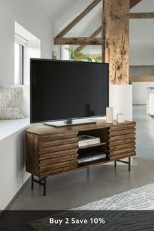 Elmir Mango Wood Corner TV Stand