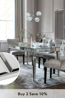 Mirror Geo 6 Seater Dining Table