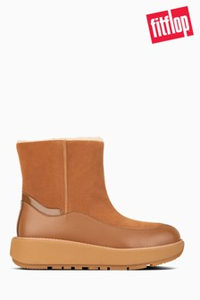 FitFlop™ Tan Elin Suede Ankle Boots