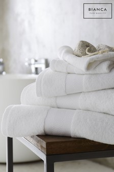 Bianca White Silk Blend Towel