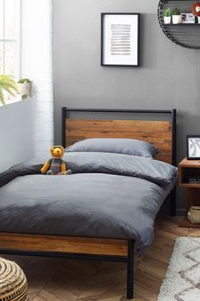 Bronx Wood and Metal Bed
