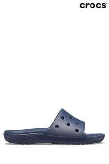 Crocs™ Blue Classic Crocs Sliders