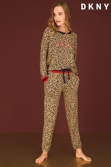 DKNY Long Sleeved Top And Joggers Pyjama Set