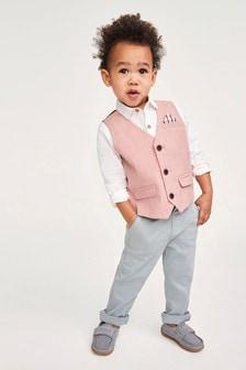 Waistcoat, Shirt And Bow Tie Set (3mths-7yrs)