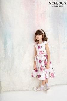 Monsoon Pink Deena Floral Dress
