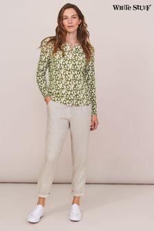 White Stuff Grey Maddie Linen Trousers