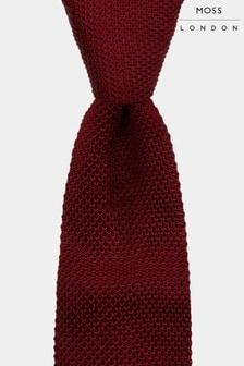 Moss London Wine Knitted Skinny Tie