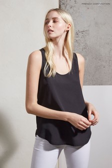 French Connection Black Round Neck Vest