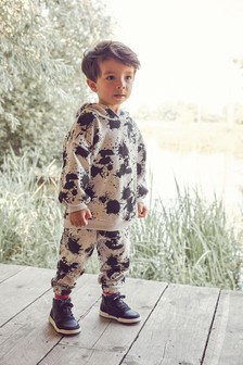 Oversized Jersey Hoodie And Joggers Set (3mths-7yrs)