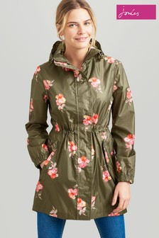 Joules Green Golightly Waterproof Packaway Jacket