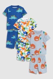Dinosaur Pyjamas Three Pack (9mths-8yrs)