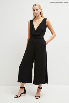 French Connection Black Crepe Sleeveless Jumpsuit