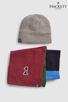 Hackett Kids Moneybox Gift Set With Hat And Scarf