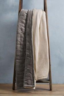 Quilted Velvet Bedspread