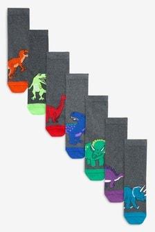 Dinosaur Socks Seven Pack (Older)