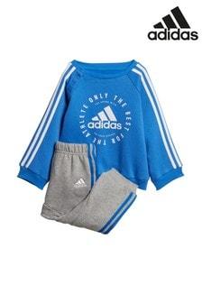 adidas Baby Blue Logo Crew Set
