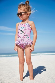 Floral Swimsuit (3mths-7yrs)