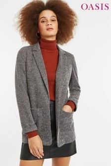 Oasis Grey Ponte Tweed Jacket