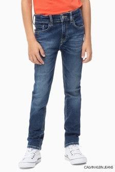 Calvin Klein Jeans Blue Slim Authentic Blue Stretch Jean
