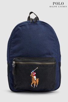 Polo Ralph Lauren Navy Canvas Backpack
