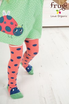 Frugi Organic Red Ladybird Tights
