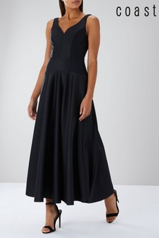 Coast Black Amendine Sparkle Maxi Dress