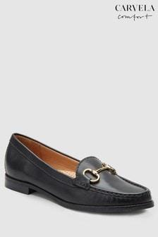 Carvela Comfort Black Leather Click Loafer