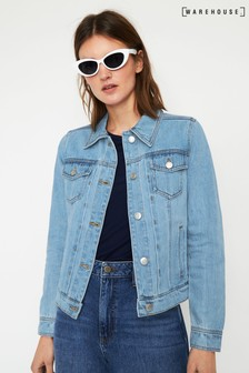 Warehouse Fitted Denim Jacket