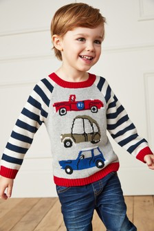 Crochet Car Jumper (3mths-7yrs)