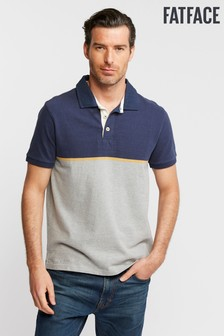 FatFace Blue Chest Stripe Rugby Polo