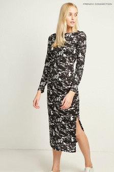 French Connection Black Lawson Meadow Dress