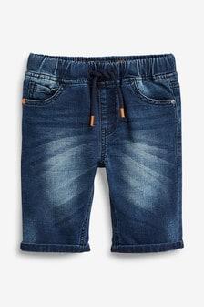 Jersey Denim Pull-On Shorts (3-16yrs)