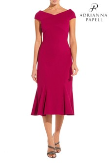 Adrianna Papell Pink Ottoman Dress