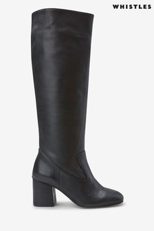 Whistles Black Hazel Knee High Boots