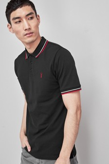 Slim Fit Stretch Tipped Polo