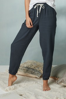 Textured Cotton Joggers