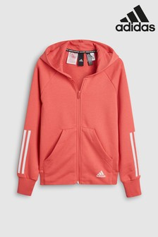 adidas Pink Must Have 3 Stripe Hoody