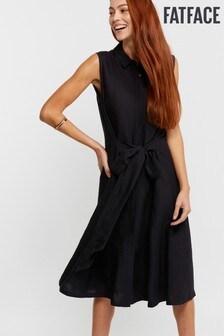 FatFace Blue Copper And Black Sylvia Shirt Dress